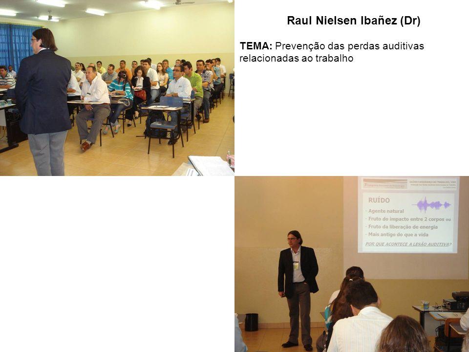 Raul Nielsen Ibañez (Dr) TEMA: Prevenção das perdas auditivas relacionadas ao trabalho