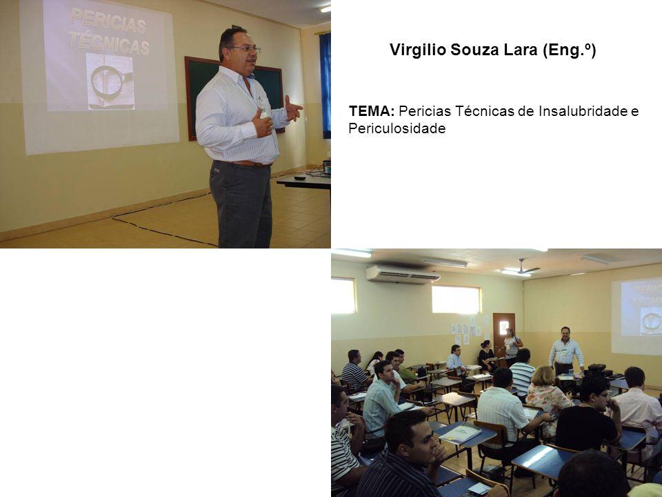 Virgilio Souza Lara (Eng.º) TEMA: Pericias Técnicas de Insalubridade e Periculosidade