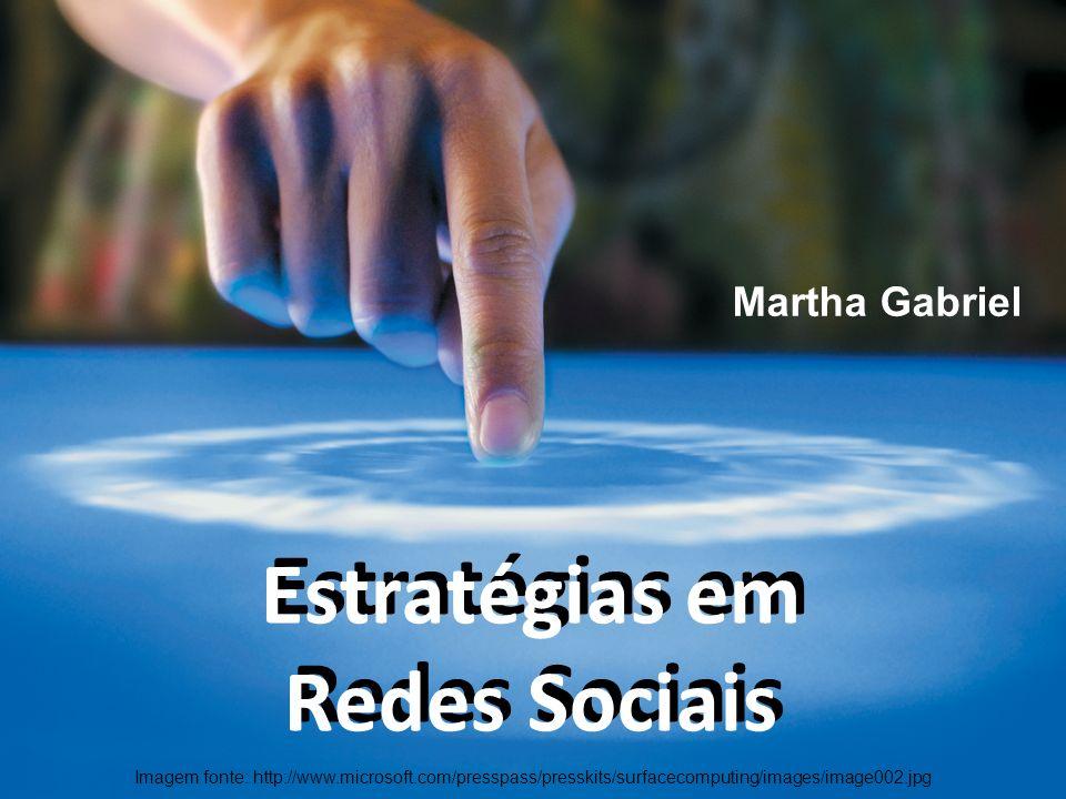 Martha Gabriel Estratégias em Redes Sociais Estratégias em Redes Sociais Imagem fonte: http://www.microsoft.com/presspass/presskits/surfacecomputing/i