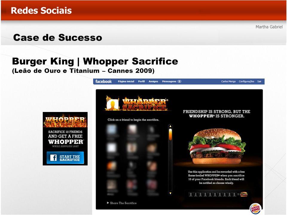 Burger King | Whopper Sacrifice (Leão de Ouro e Titanium – Cannes 2009) Case de Sucesso