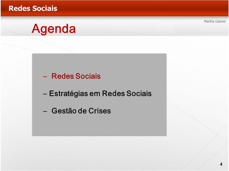 Agenda – Redes Sociais – Estratégias em Redes Sociais – Gestão de Crises 4