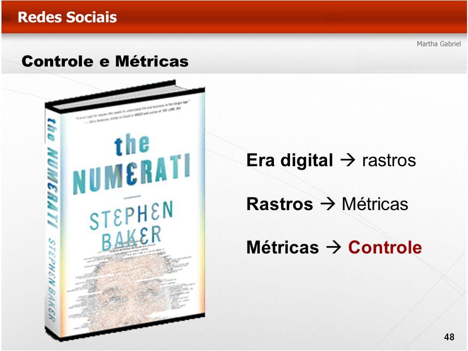 Controle e Métricas Era digital rastros Rastros Métricas Métricas Controle 48