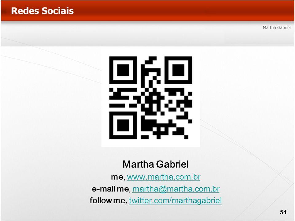 Martha Gabriel me, www.martha.com.brwww.martha.com.br e-mail me, martha@martha.com.brmartha@martha.com.br follow me, twitter.com/marthagabrieltwitter.