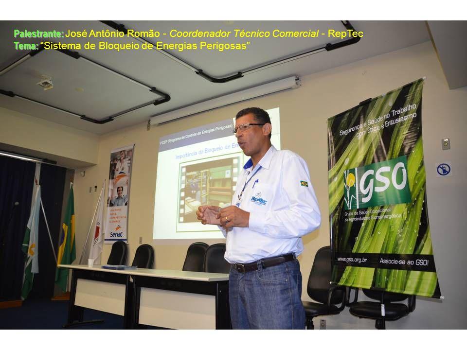Palestrante: Palestrante: José Antônio Romão - Coordenador Técnico Comercial - RepTec Tema: Tema: Sistema de Bloqueio de Energias Perigosas