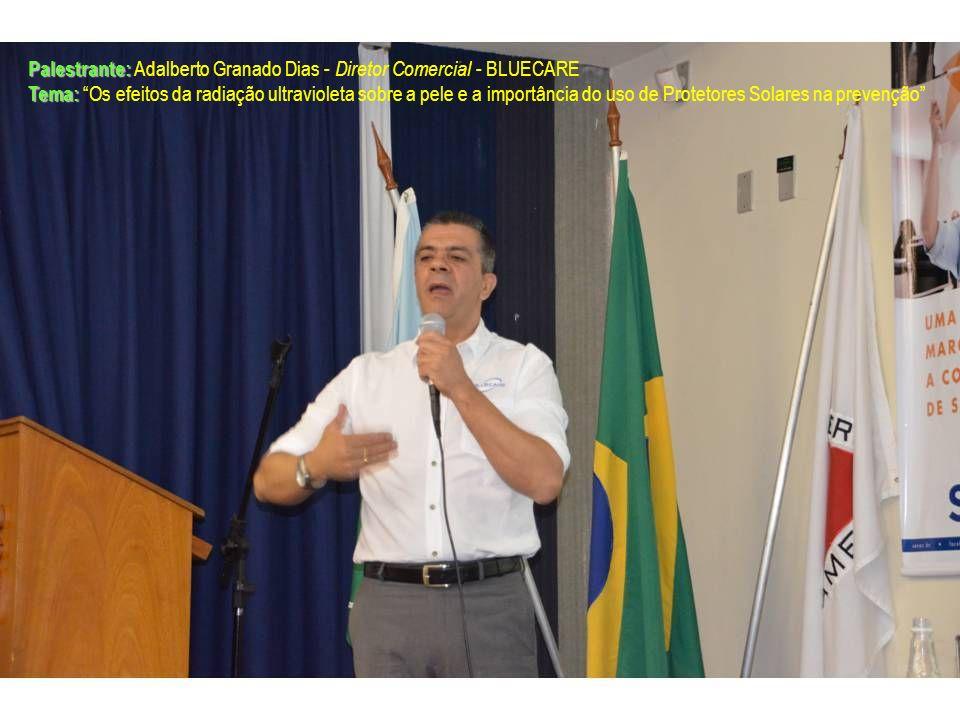 Palestrante: Palestrante: Adalberto Granado Dias - Diretor Comercial - BLUECARE Tema: Tema: Os efeitos da radiação ultravioleta sobre a pele e a impor