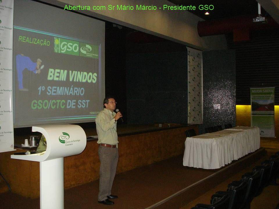 Abertura com Sr Mário Márcio - Presidente GSO