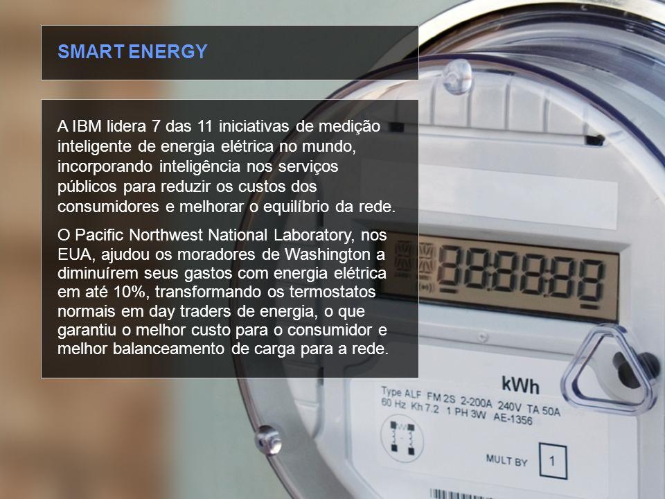 © 2010 IBM Corporation A IBM lidera 7 das 11 iniciativas de medição inteligente de energia elétrica no mundo, incorporando inteligência nos serviços p