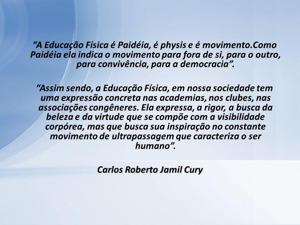 A Educação Física é Paidéia, é physis e é movimento.Como Paidéia ela indica o movimento para fora de si, para o outro, para convivência, para a democr