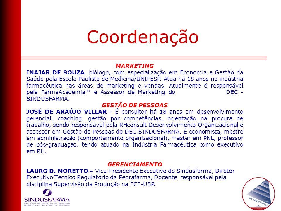 MARKETING INAJAR DE SOUZA, biólogo, com especialização em Economia e Gestão da Saúde pela Escola Paulista de Medicina/UNIFESP. Atua há 18 anos na indú