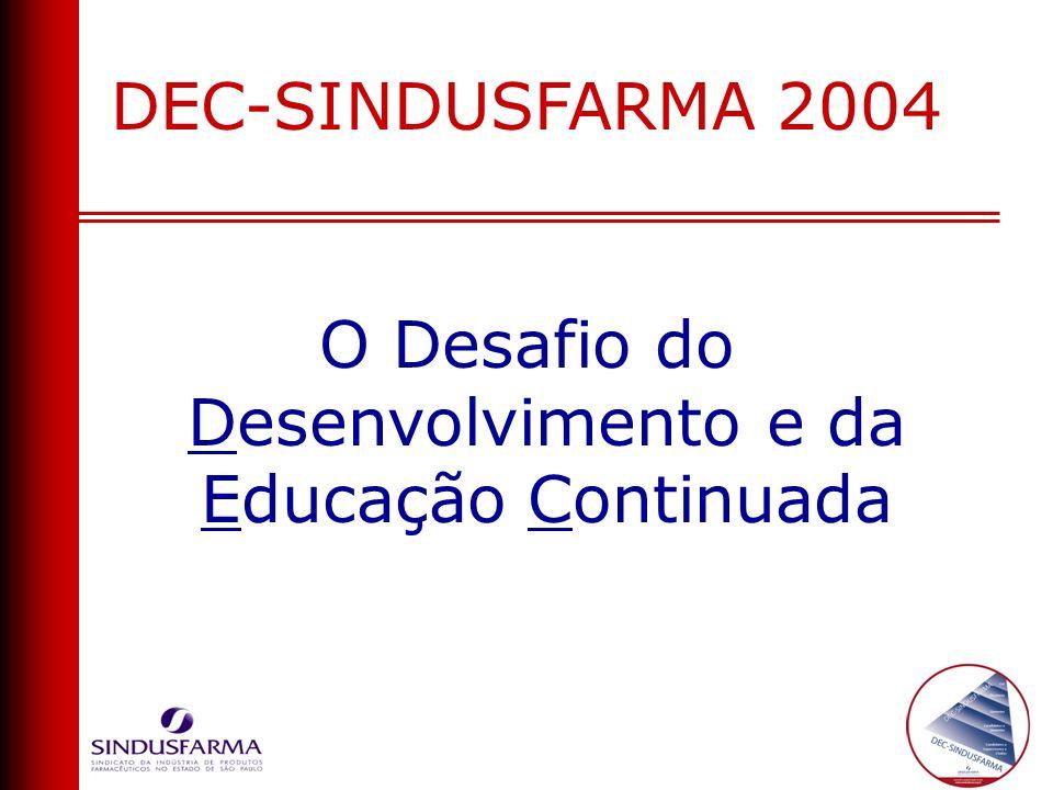 DEC-SINDUSFARMA 2004 O Desafio do Desenvolvimento e da Educação Continuada