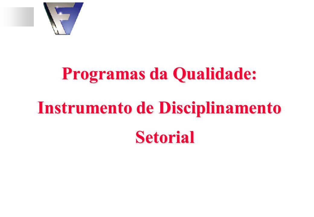 Programas da Qualidade: Instrumento de Disciplinamento Setorial
