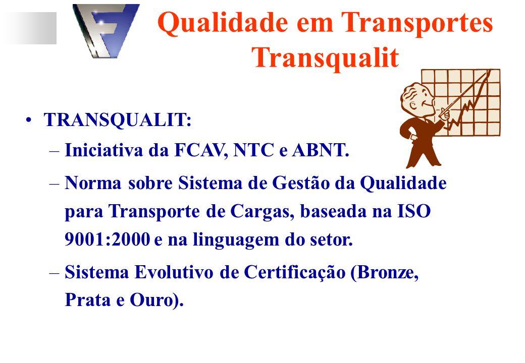 TRANSQUALIT: –Iniciativa da FCAV, NTC e ABNT.
