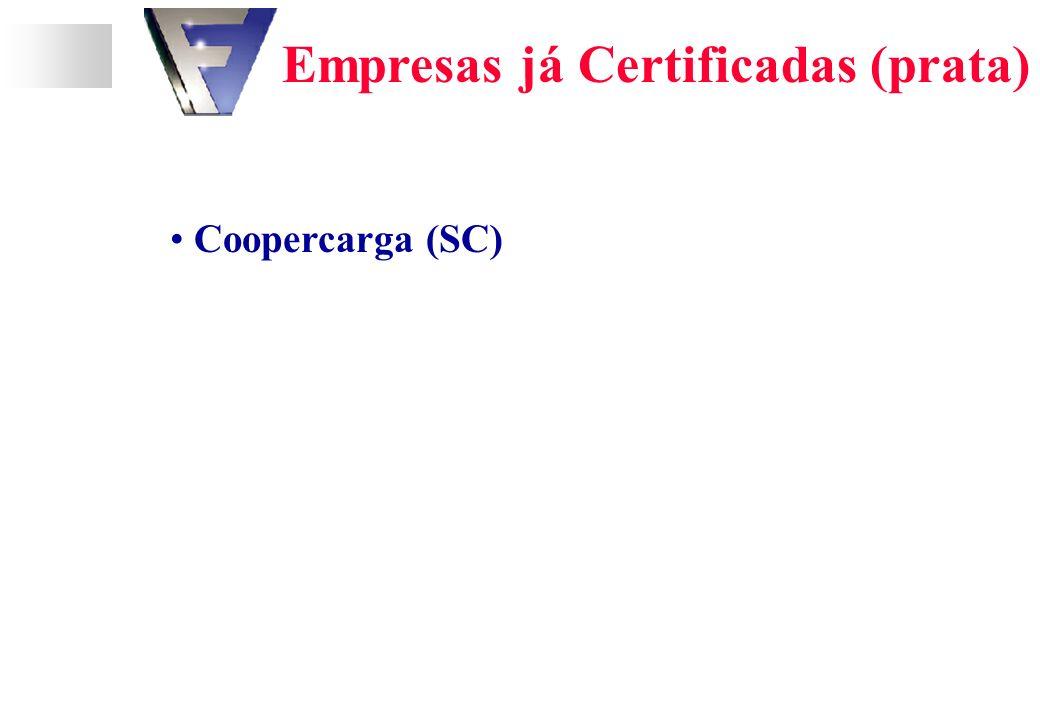 Empresas já Certificadas (prata) Coopercarga (SC)