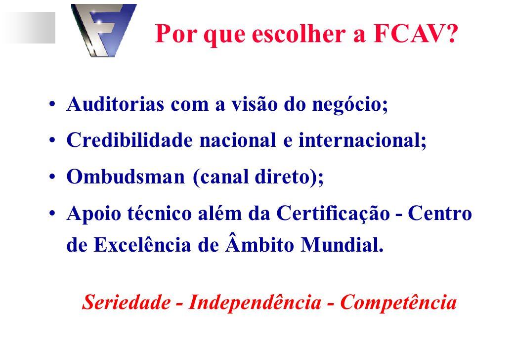Por que escolher a FCAV.