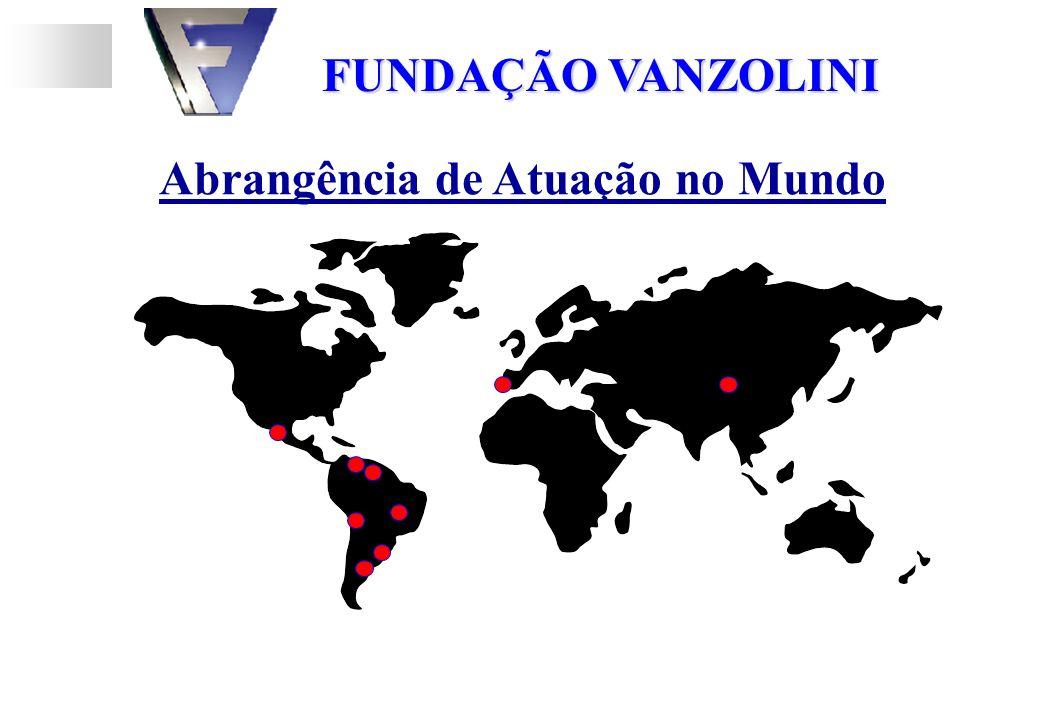 Abrangência de Atuação no Mundo FUNDAÇÃO VANZOLINI