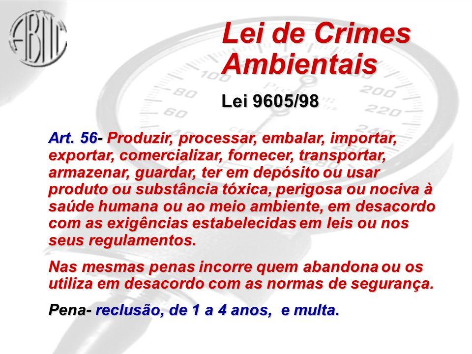 Art. 56- Produzir, processar, embalar, importar, exportar, comercializar, fornecer, transportar, armazenar, guardar, ter em depósito ou usar produto o