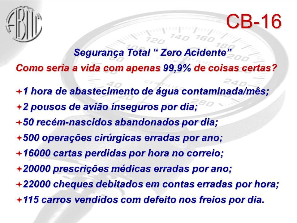 Segurança Total Zero Acidente Como seria a vida com apenas 99,9% de coisas certas.