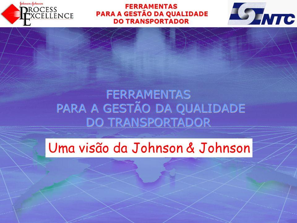 FERRAMENTAS PARA A GESTÃO DA QUALIDADE PARA A GESTÃO DA QUALIDADE DO TRANSPORTADOR PROGRAMA APRESENTAÇÃO JOHNSON & JOHNSON QUALIDADE CLIENTE O QUE O CLIENTE QUER SATISFAÇÃO DO CLIENTE VOC – VOZ DO CLIENTE GESTÃO DA QUALIDADE GESTÃO DE RELACIONAMENTOS CLIENTES FORNECEDORES 1ª PARTE PAPEL DE CADA PARTE NO PROCESSO GESTÃO DA QUALIDADE DO FORNECEDOR MENSAGEM FINAL PERGUNTAS RELACIONAMENTO PREFERENCIAL 2ª PARTE