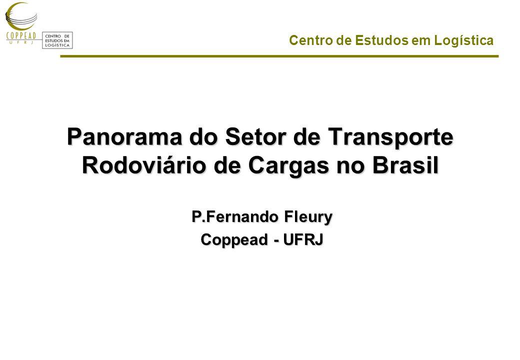 Centro de Estudos em Logística Panorama do Setor de Transporte Rodoviário de Cargas no Brasil P.Fernando Fleury Coppead - UFRJ