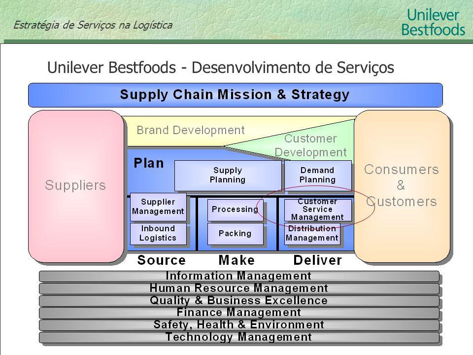 Estratégia de Serviços na Logística Unilever Bestfoods - Desenvolvimento de Serviços