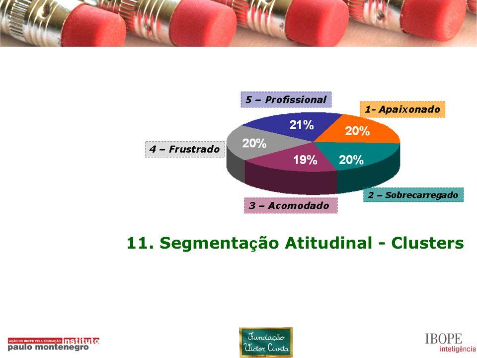 11 11. Segmenta ç ão Atitudinal - Clusters