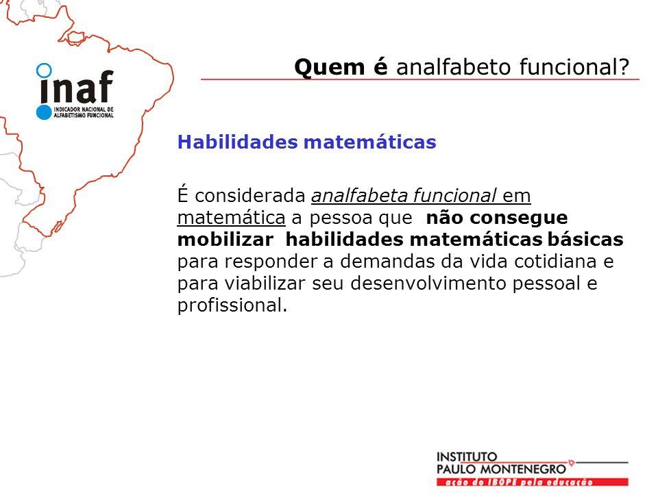Quem é analfabeto funcional.