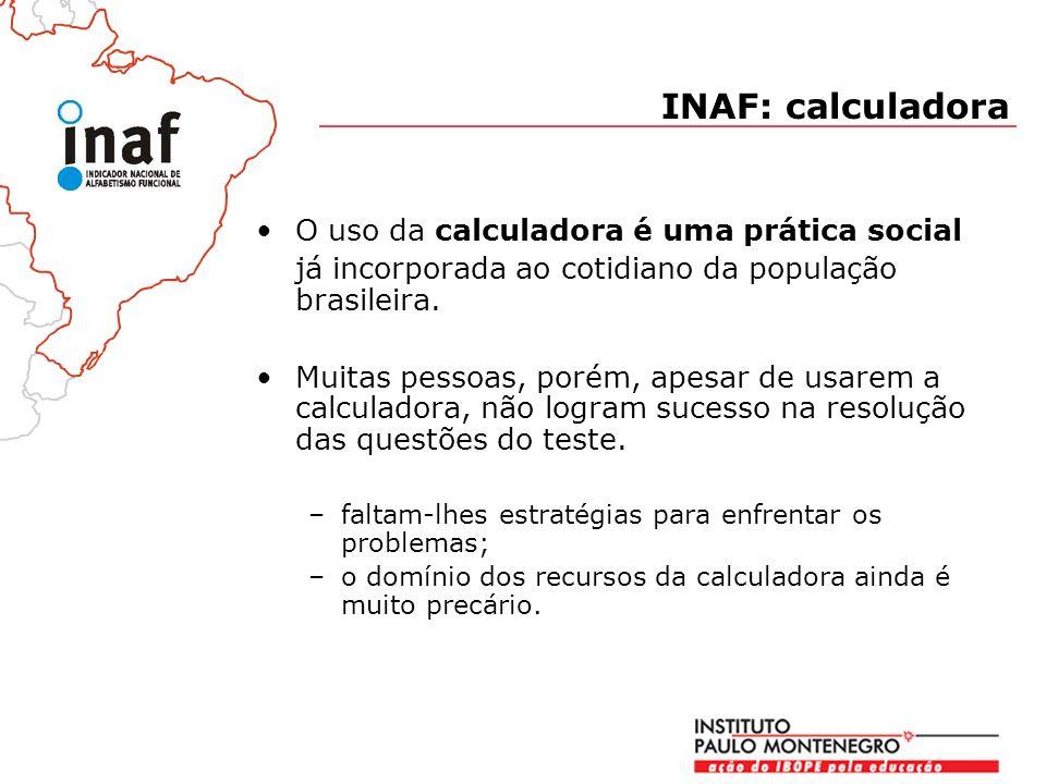 O uso da calculadora é uma prática social já incorporada ao cotidiano da população brasileira.