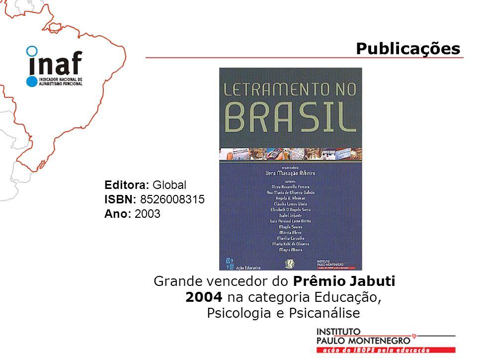 Publicações Grande vencedor do Prêmio Jabuti 2004 na categoria Educação, Psicologia e Psicanálise Editora: Global ISBN: 8526008315 Ano: 2003