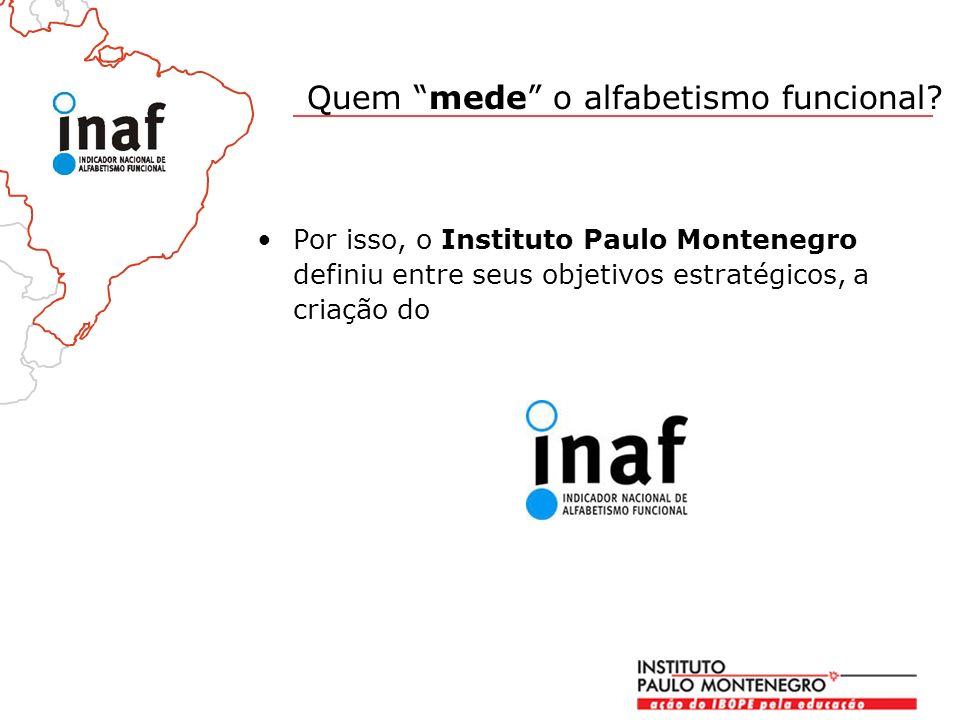 Por isso, o Instituto Paulo Montenegro definiu entre seus objetivos estratégicos, a criação do Quem mede o alfabetismo funcional?