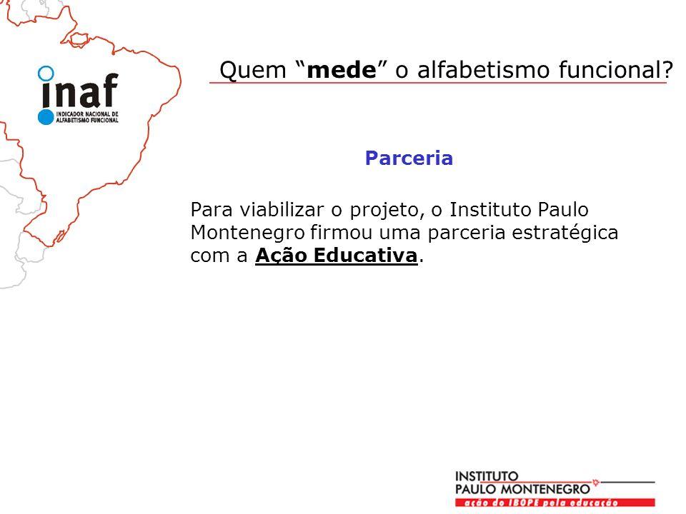 Para viabilizar o projeto, o Instituto Paulo Montenegro firmou uma parceria estratégica com a Ação Educativa.