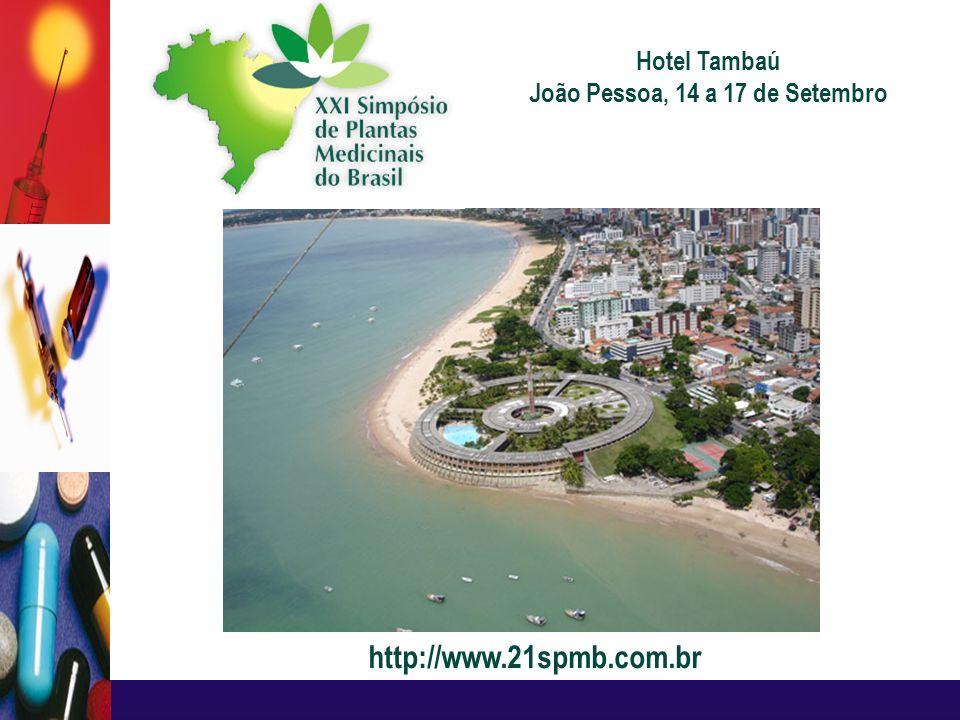 http://www.21spmb.com.br Hotel Tambaú João Pessoa, 14 a 17 de Setembro