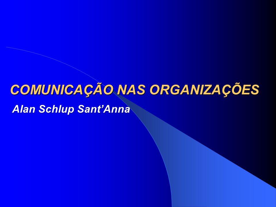 COMUNICAÇÃO NAS ORGANIZAÇÕES Alan Schlup SantAnna