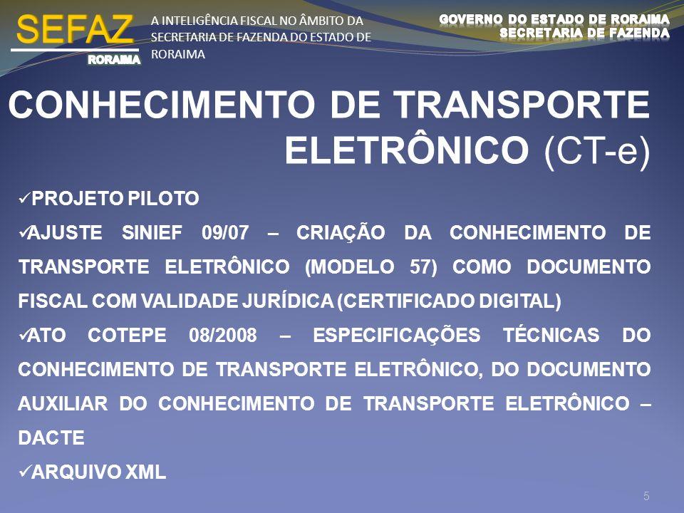 A INTELIGÊNCIA FISCAL NO ÂMBITO DA SECRETARIA DE FAZENDA DO ESTADO DE RORAIMA ESCRITURAÇÃO FISCAL DIGITAL (EFD/SPED) Arquivo digital (TXT), formado por um conjunto de escriturações de documentos fiscais e de outras informações de interesse dos fiscos das unidades federadas e da Secretaria da Receita Federal do Brasil, bem como de registros de apuração de impostos referentes às operações e prestações praticadas pelo contribuinte, enviados via ReceitaNet (PVA) com CERTIFICADO DIGITAL.