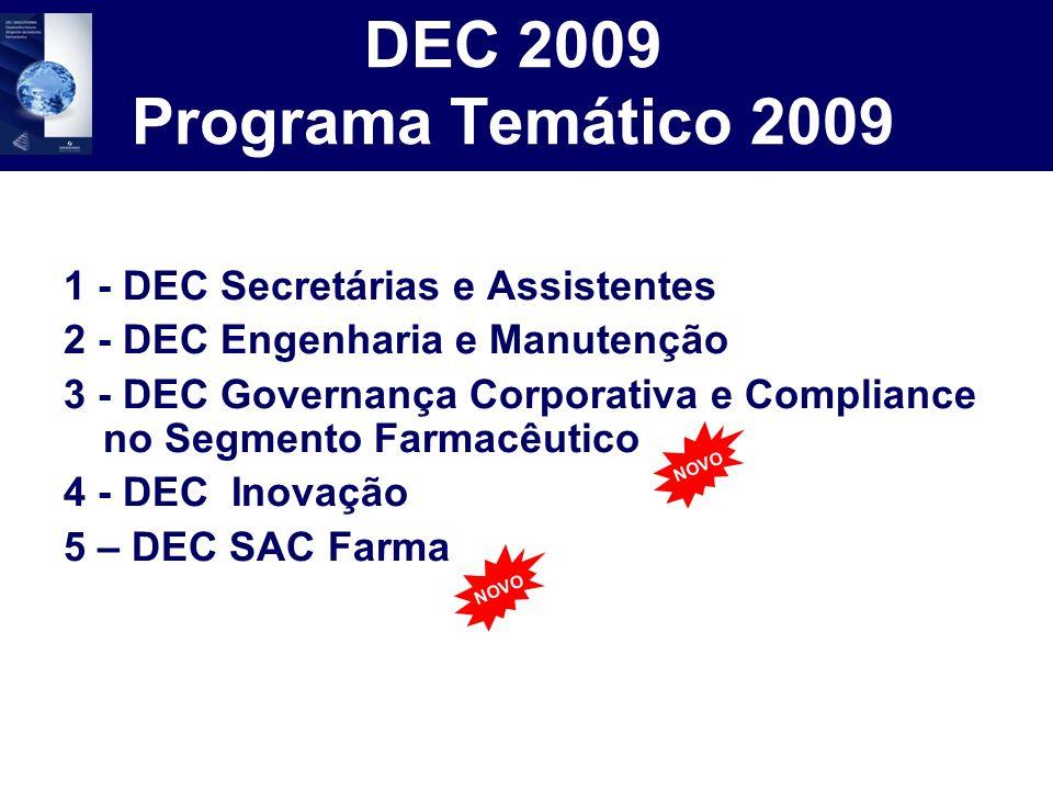 DEC 2009 Programa Temático 2009 1 - DEC Secretárias e Assistentes 2 - DEC Engenharia e Manutenção 3 - DEC Governança Corporativa e Compliance no Segme