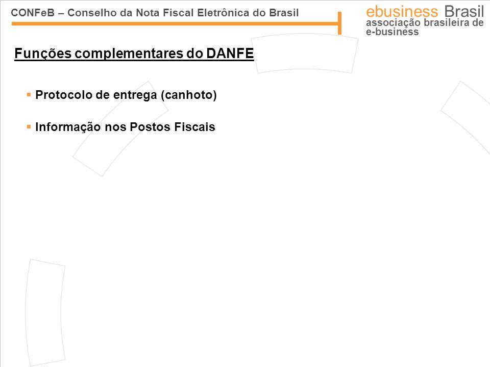 CONFeB – Conselho da Nota Fiscal Eletrônica do Brasil ebusiness Brasil associação brasileira de e-business Funções complementares do DANFE Protocolo d