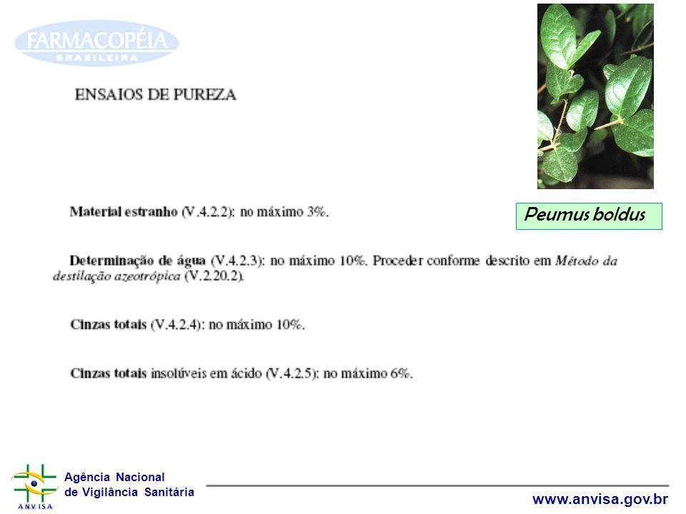 Agência Nacional de Vigilância Sanitária www.anvisa.gov.br Peumus boldus