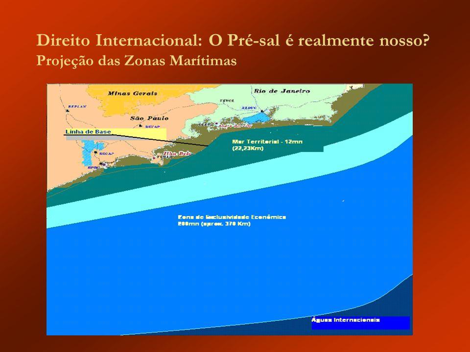 Direito Internacional: O Pré-sal é realmente nosso? Projeção das Zonas Marítimas
