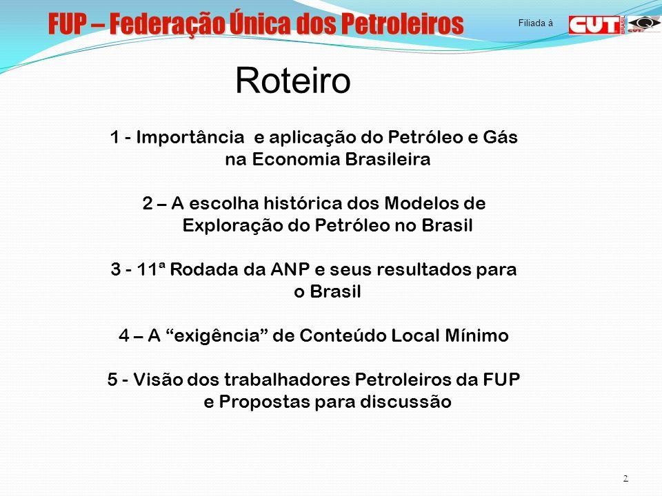 FUP – Federação Única dos Petroleiros 3 Filiada à 1.