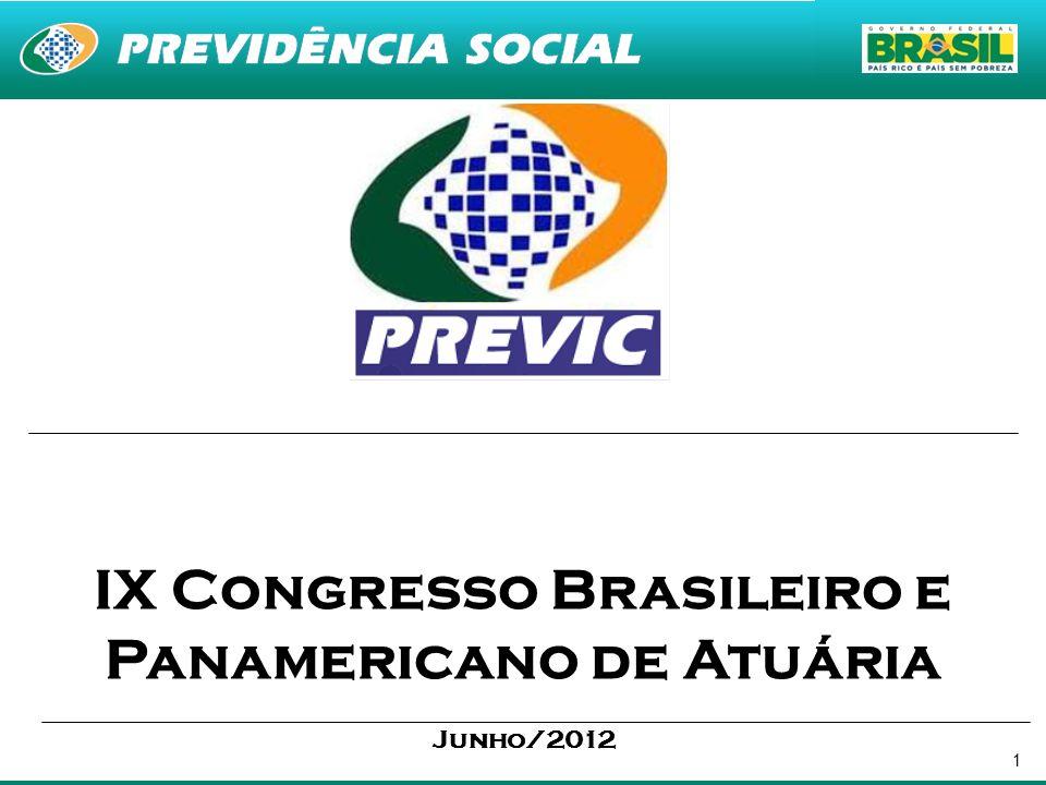 1 IX Congresso Brasileiro e Panamericano de Atuária Junho/2012