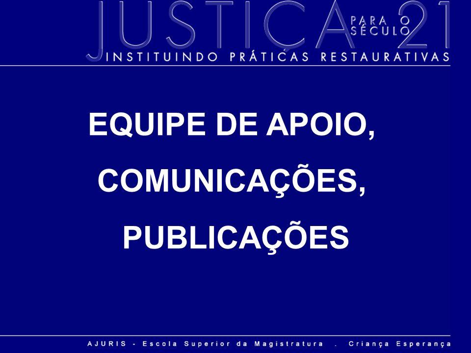 EQUIPE DE APOIO, COMUNICAÇÕES, PUBLICAÇÕES