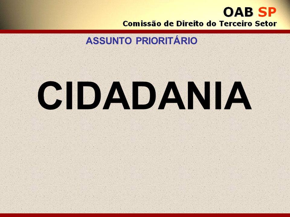 CIDADANIA ASSUNTO PRIORITÁRIO
