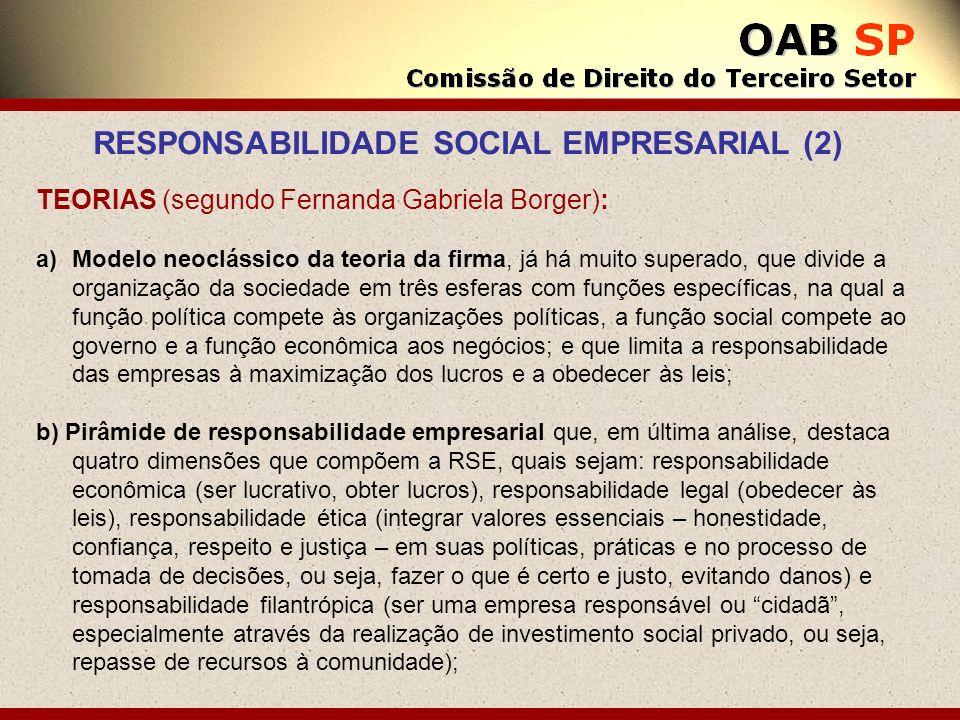 TEORIAS (segundo Fernanda Gabriela Borger): a)Modelo neoclássico da teoria da firma, já há muito superado, que divide a organização da sociedade em tr