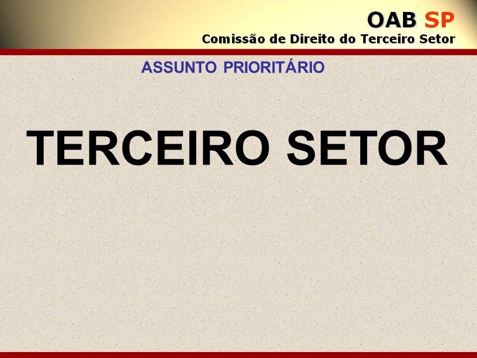 TERCEIRO SETOR ASSUNTO PRIORITÁRIO