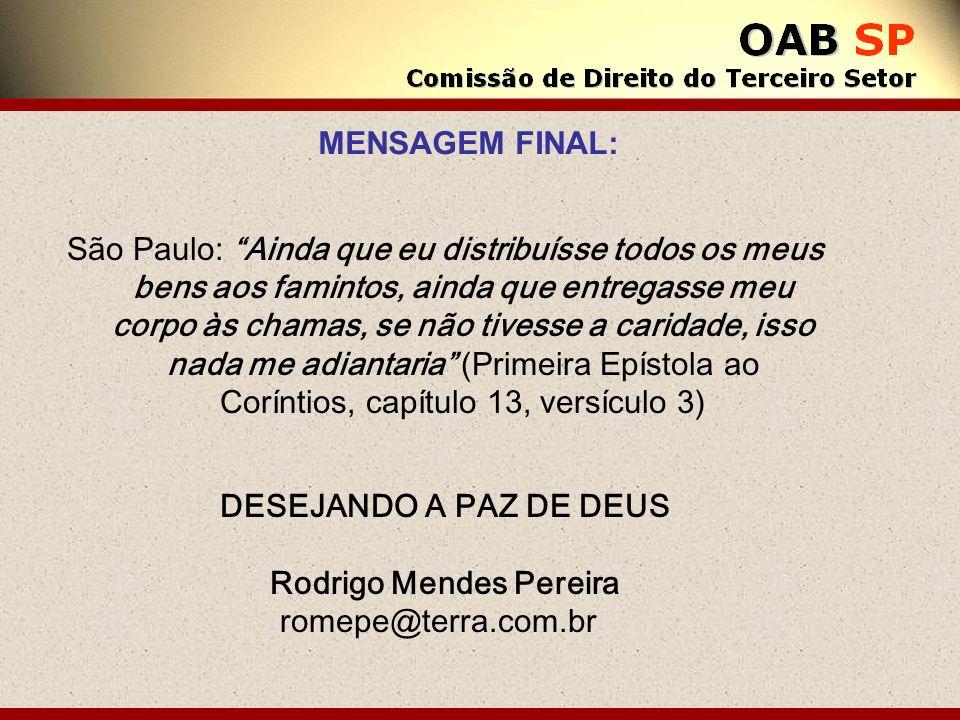 São Paulo: Ainda que eu distribuísse todos os meus bens aos famintos, ainda que entregasse meu corpo às chamas, se não tivesse a caridade, isso nada m