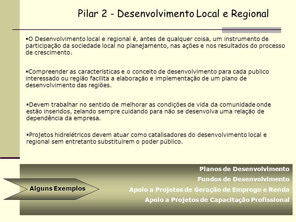 O Desenvolvimento local e regional é, antes de qualquer coisa, um instrumento de participação da sociedade local no planejamento, nas ações e nos resu