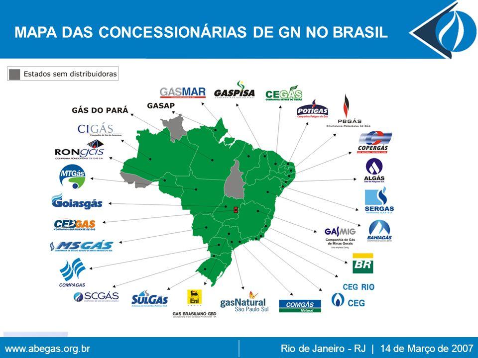 www.abegas.org.brRio de Janeiro - RJ | 14 de Março de 2007 MAPA DAS CONCESSIONÁRIAS DE GN NO BRASIL