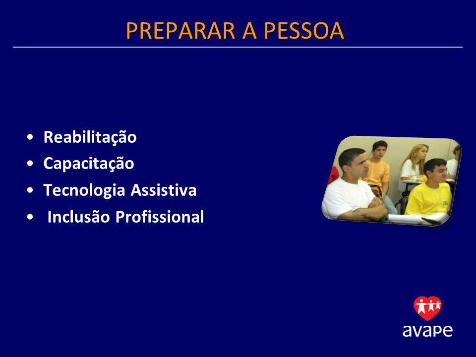 PREPARAR A PESSOA Reabilitação Capacitação Tecnologia Assistiva Inclusão Profissional