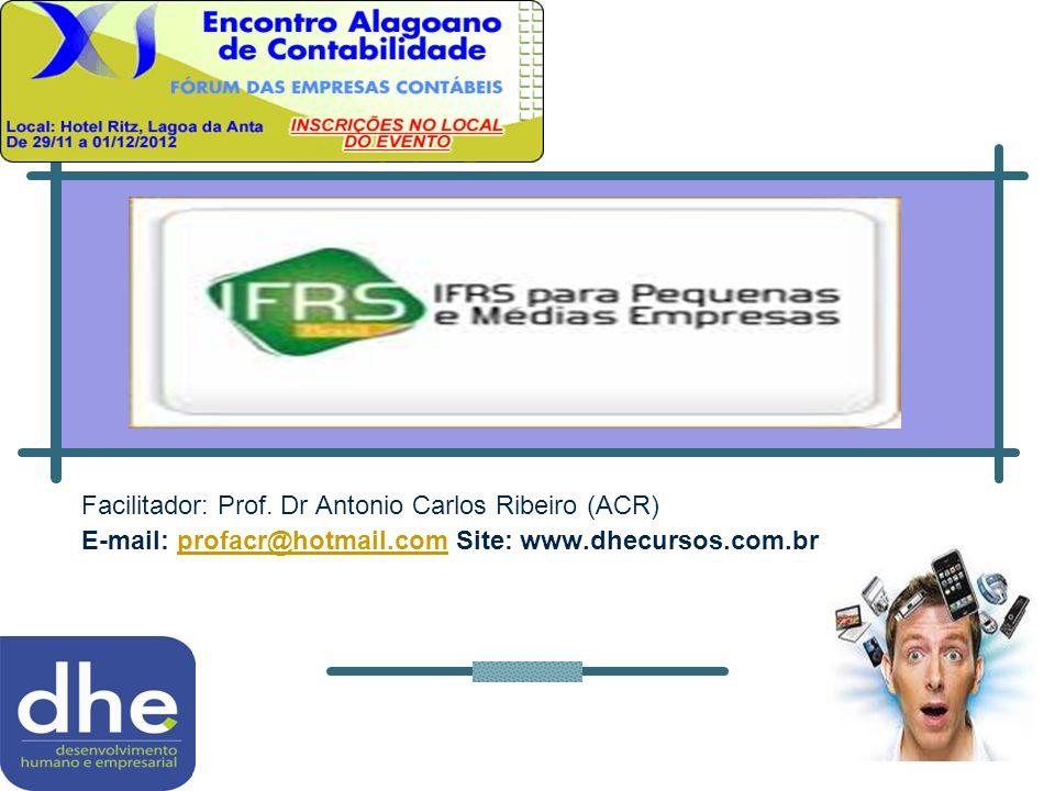 Facilitador: Prof. Dr Antonio Carlos Ribeiro (ACR) E-mail: profacr@hotmail.com Site: www.dhecursos.com.brprofacr@hotmail.com