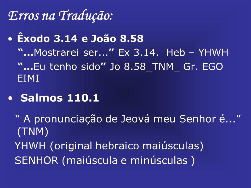 João 1.1...E o verbo era um deus (TNM) tradução de Johannes Greber.