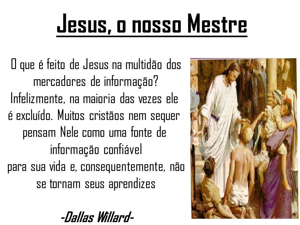 Jesus, o nosso Mestre O que é feito de Jesus na multidão dos mercadores de informação.